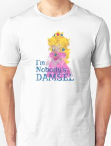 Nobody's Damsel in Distressed Font Unisex T-Shirt