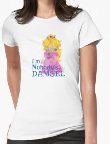 Nobody's Damsel in Distressed Font T-Shirt