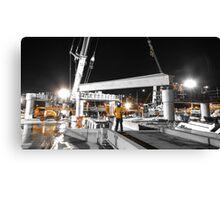 Bridge Construction in Orange Canvas Print