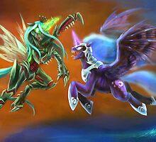 Nightmare vs Chrysalis by slifer