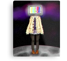 TV Head Metal Print