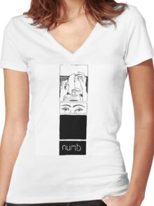 Numb Women's Fitted V-Neck T-Shirt