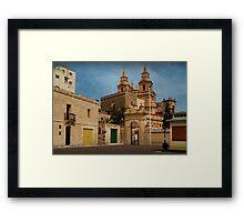 Mellieha Malta -- Lower Church Entrance (Sigma 1970 : 24mm Lens) Framed Print