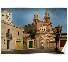 Mellieha Malta -- Lower Church Entrance (Sigma 1970 : 24mm Lens) Poster
