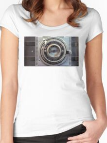 Detrola Vintage Camera Women's Fitted Scoop T-Shirt