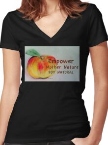Empower Mother Nature Women's Fitted V-Neck T-Shirt