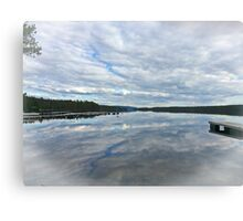 Reflections of clouds Canvas Print