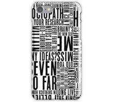 BBC Sherlock Holmes Quotes - Black Version iPhone Case/Skin
