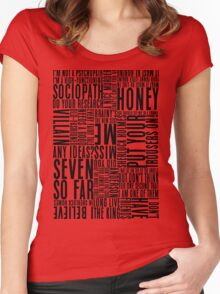 BBC Sherlock Holmes Quotes - Black Version Women's Fitted Scoop T-Shirt