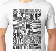 BBC Sherlock Holmes Quotes - Black Version Unisex T-Shirt
