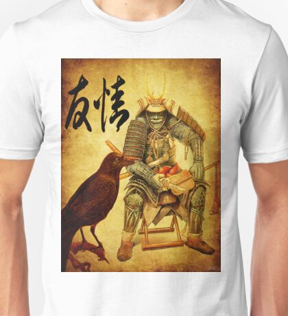 The old samurai and his faithful friendly the crow Unisex T-Shirt