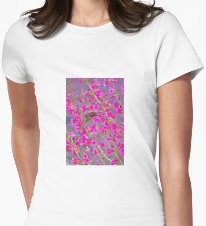 Peeking Through the Pink Penstemons Womens Fitted T-Shirt