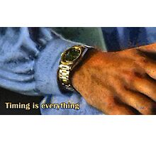 Timing is everything Photographic Print