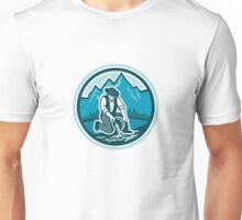 Gold Prospector Miner Panning Circle Retro Unisex T-Shirt