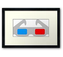 3D Glasses Framed Print