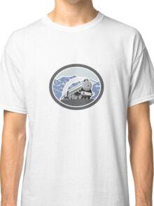 Steam Train Locomotive Mountains Retro Classic T-Shirt