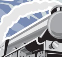 Steam Train Locomotive Mountains Retro Sticker