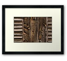 Weathered Wooden Abstracts - 1 Framed Print