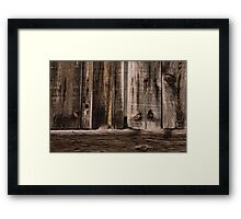 Weathered Wooden Abstracts - 2 Framed Print