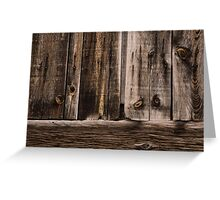 Weathered Wooden Abstracts - 2 Greeting Card