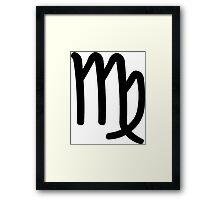 Virgo - The Virgin - Astrology Sign Framed Print