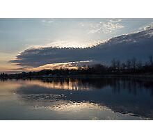 Just Before Sunset - Gray Clouds and Ripples  Photographic Print