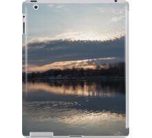 Just Before Sunset - Gray Clouds and Ripples  iPad Case/Skin