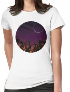 Weather forecast for tonight: dark! Womens Fitted T-Shirt