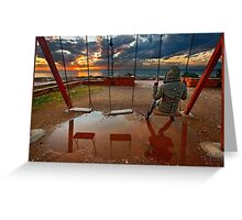 Rainy sunset in Patras Greeting Card
