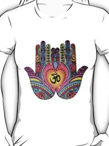 Ohm Rainbow Hippie Print T-Shirt
