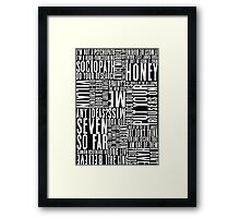 BBC Sherlock Holmes Quotes - White Version Framed Print