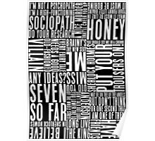 BBC Sherlock Holmes Quotes - White Version Poster