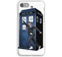 David Tennant and the Tardis iPhone Case/Skin