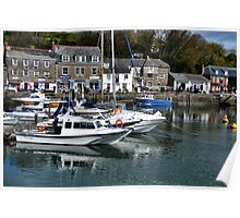 Boats At  Padstow Harbour Cornwall UK Poster
