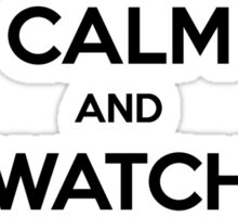Keep Calm and Watch Grey's Anatomy (black version) Sticker