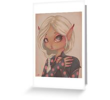 Goblin Girl Greeting Card