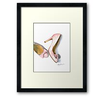 Pink Bows Framed Print