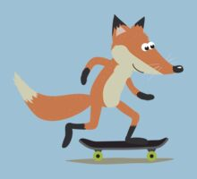 Skateboarding fox Kids Tee