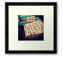 ABC Stamps Framed Print