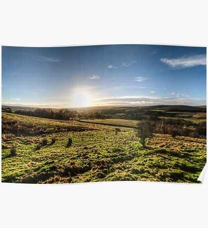 Sunset over Northumberland National Park Poster