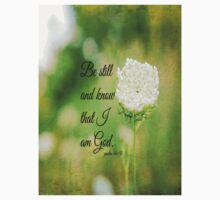 Psalm 46 Be Still and Know Kids Clothes