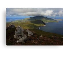 Croaghaun Mountain From Slievemore Canvas Print