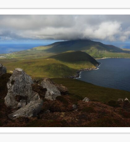 Croaghaun Mountain From Slievemore Sticker