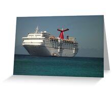Carnival Ecstasy ship Greeting Card