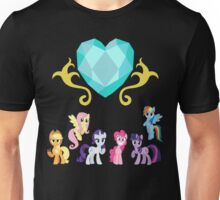 Crystal Heart 'N' Mane 6 Unisex T-Shirt