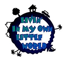 living in my own little world Photographic Print