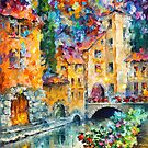 LITTLE VILLAGE by Leonid  Afremov