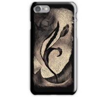 Alone in the crowd (Black-Apricot) iPhone Case/Skin