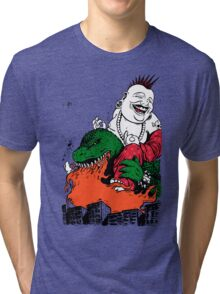 Sit Down and Shut Up Artwork in Color (textless) Tri-blend T-Shirt