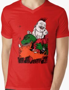 Sit Down and Shut Up Artwork in Color (textless) Mens V-Neck T-Shirt